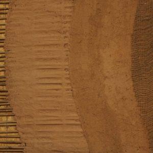 vzorek jednotlivých vrstev  provedení hliněných omítek (z našeho stánku na veletrhu)