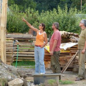 stavebníci sami odvedli na celém domě obrovský kus práce