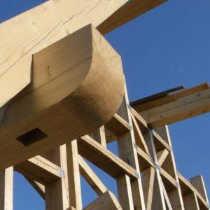 dřevěná vazba tesařské konstrukce - jako umělecké dílo